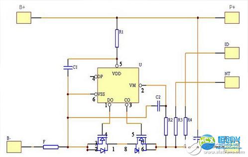 锂电池保护板电路 锂电池保护板原理详解